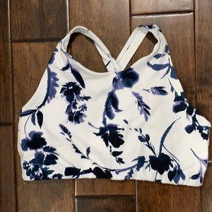 Athleta Floral high neck bra size L